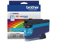 Brother INKvestment LC406XLC Original Ink Cartridge - Single Pack - Cyan