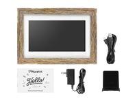 "Aluratek 10"" WiFi Touchscreen Distressed Wood Digital Photo Frame"