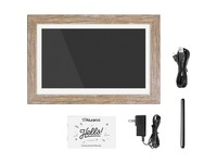 "Aluratek 13.3"" WiFi Touchscreen Distressed Wood Digital Photo Frame"