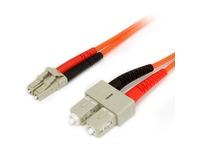 StarTech.com 5m Fiber Optic Cable - Multimode Duplex 62.5/125 - LSZH - LC/SC - OM1 - LC to SC Fiber Patch Cable