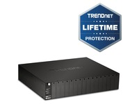 TRENDnet 16-Bay Fiber Converter Chassis System; Hot Swappable; Housing for up to 16 TFC Series Media Converters; Fast Ethernet RJ45; RS-232; SNMP Management Module; Lifetime Protection; TFC-1600