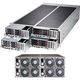 Supermicro SuperServer F627G2-FTPT+ Barebone System - 4U Rack-mountable - Intel C602 Chipset - 4 Number of Node(s) - Socket R LGA-2011 - 2 x Processor Support - Black
