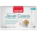 Maxell Jewel Cases Slim Line - Clear (40 Pack) - Jewel Case - Book Fold - Clear