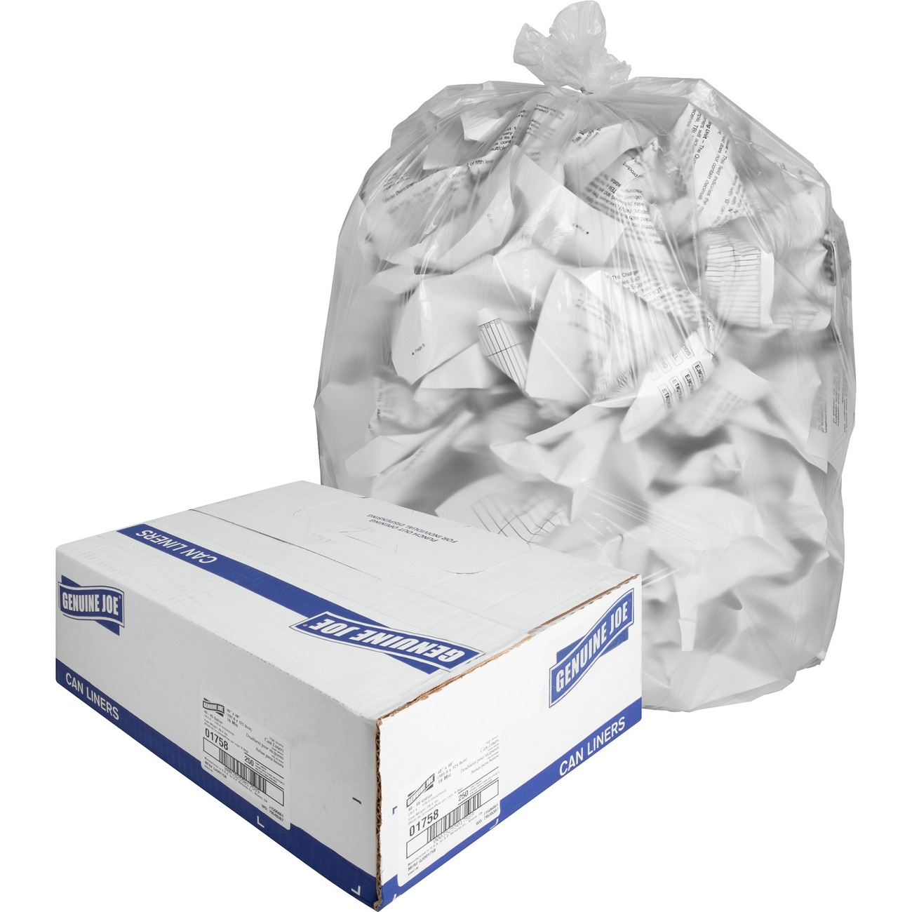 "33 Gal Webster Trash Bag 33/"" X 40/"" 0.43 Mil Thickness High 11 Micron"