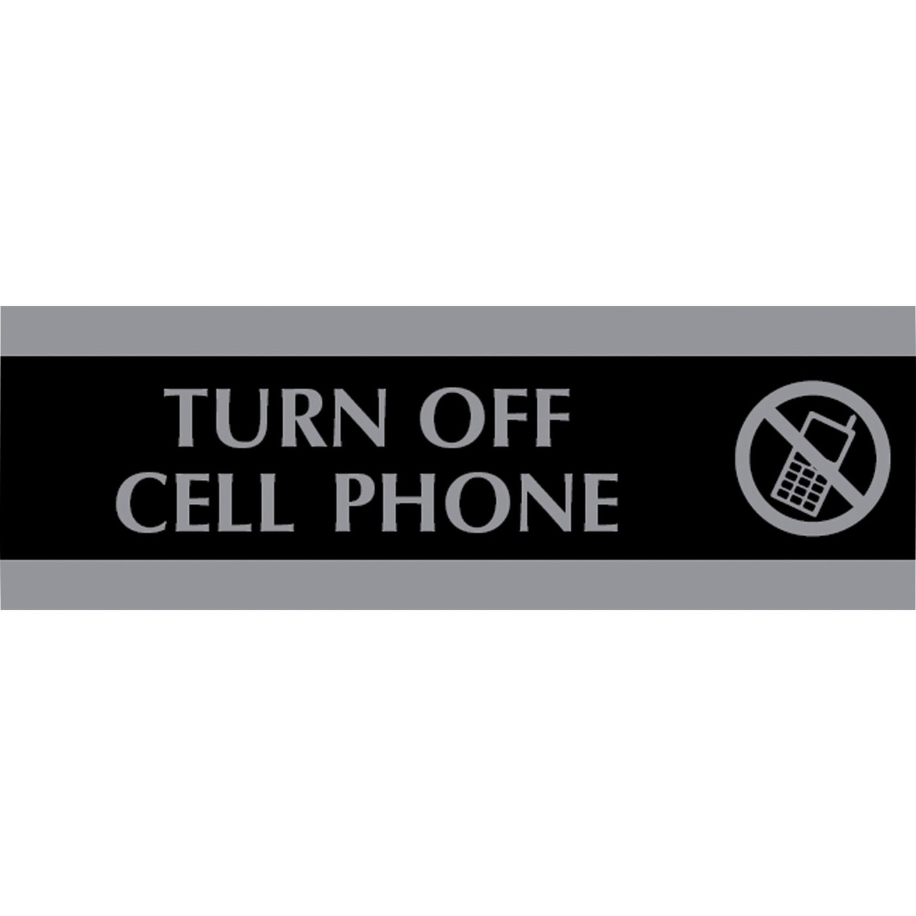 u s  stamp  u0026 sign century turn off cell phone sign