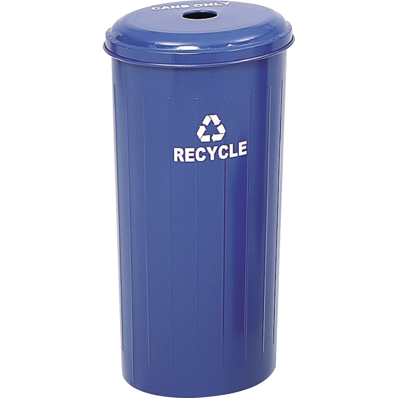 9632BU Safco Recycling Receptacle with Lid 20 gal Capacity 30 Height x 16