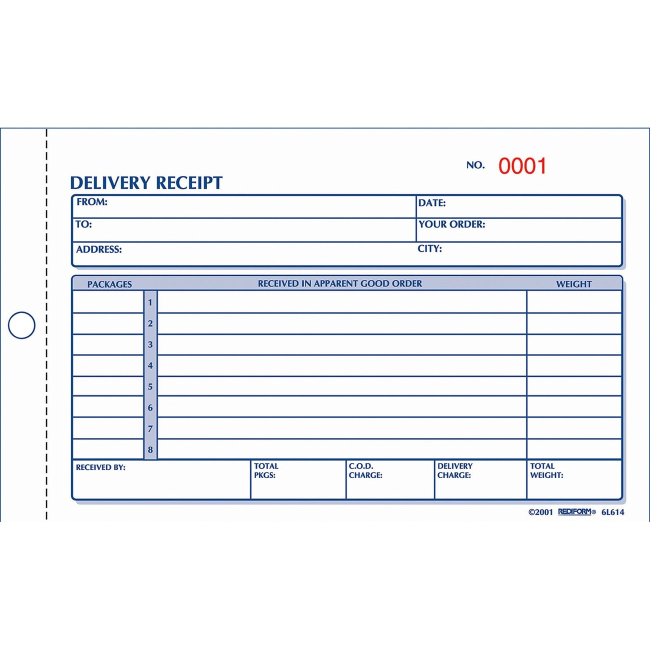 Product RED6L614 Rediform Carbonless Delivery Receipt Books – Book Receipt Format