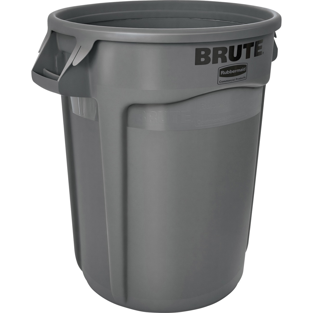 Rubbermaid Commercial Brute Round Container 121 13 L Capacity Plastic Gray