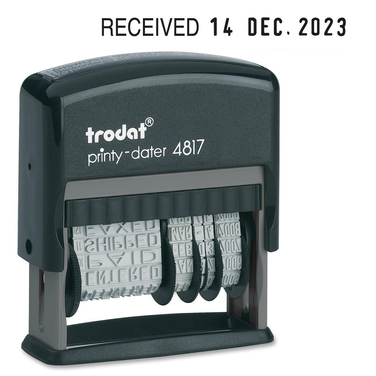Trodat Dial A Phrase Date Stamp