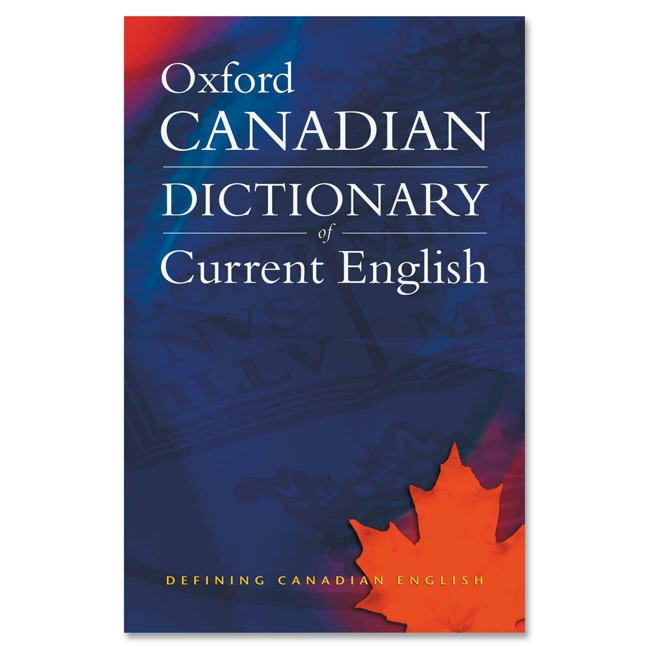 Oxford University Press Canadian Oxford Dictionary Of Current