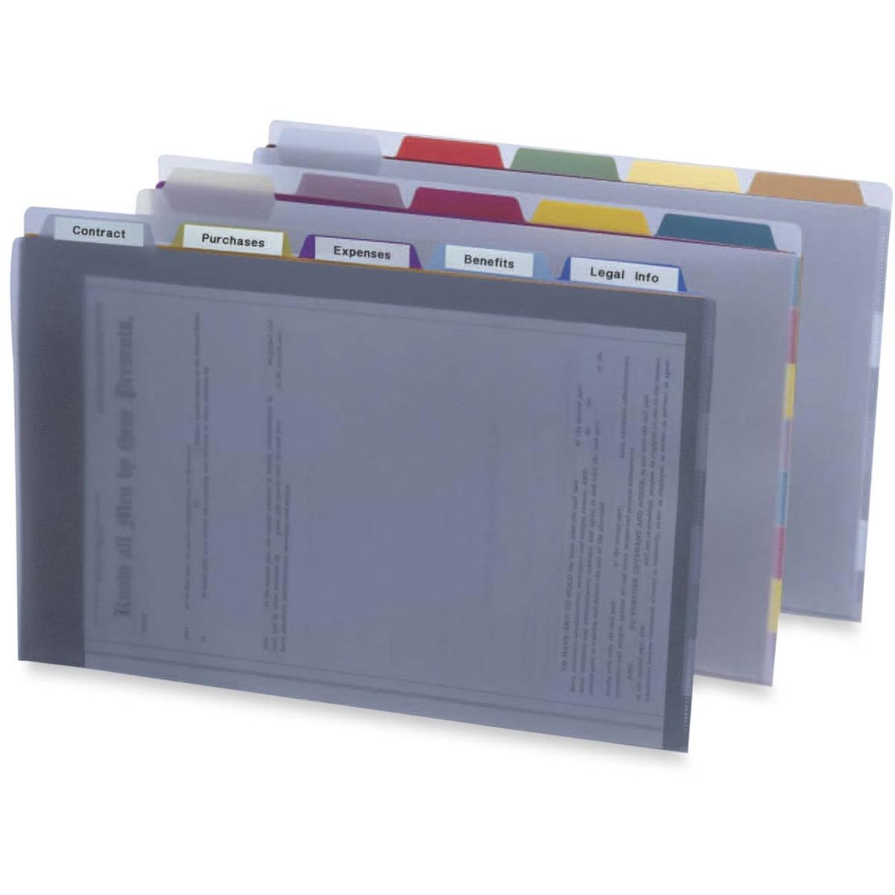 Pendaflex Project Organizer Wallets Legal 1 5 Tab Cut Polypropylene Clear 113 4 G Each