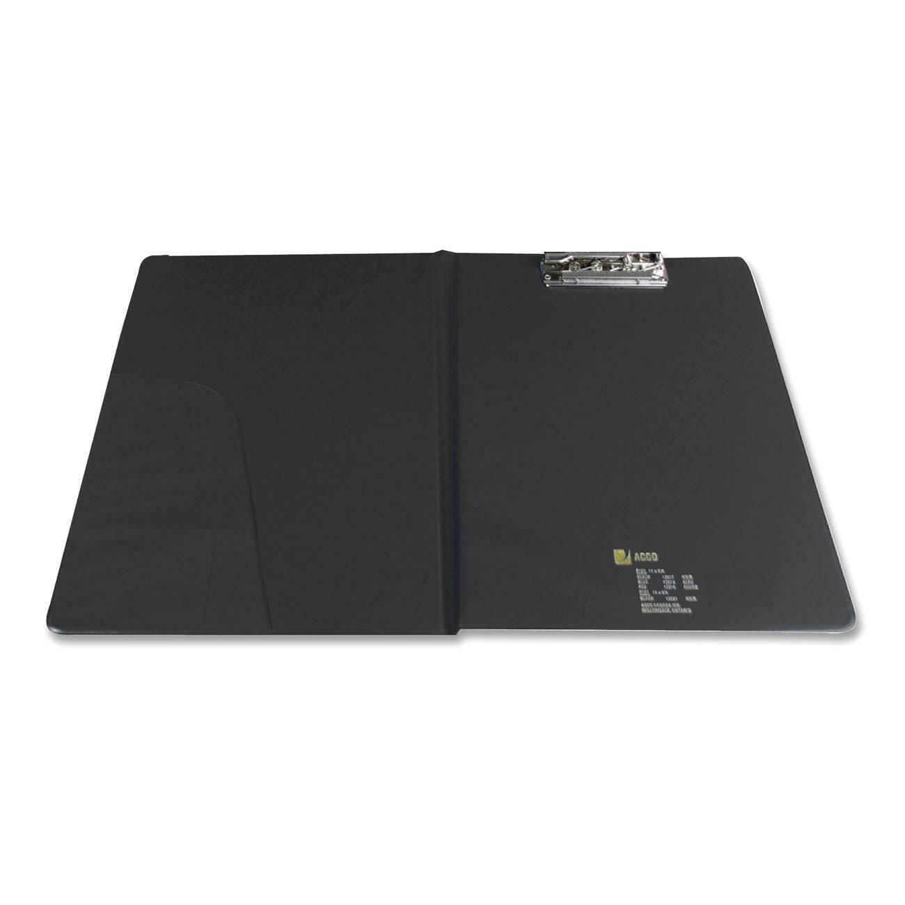Acco Clipboard Portfolio 8 1 2 X 11 Clamp Vinyl Black Each