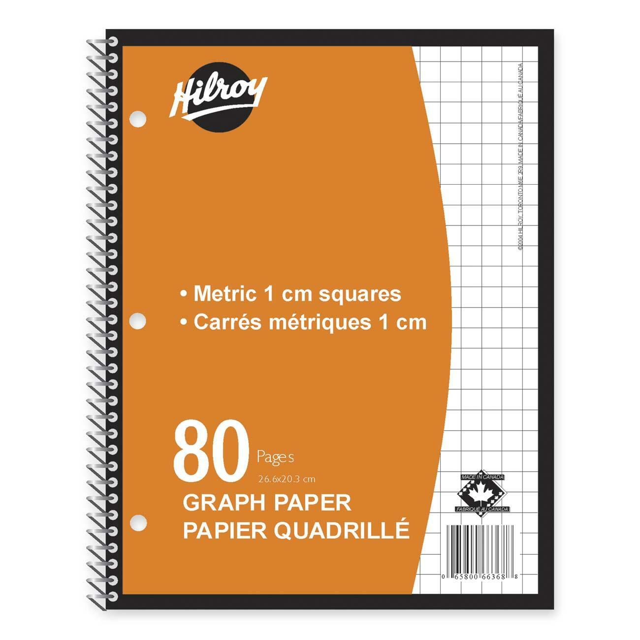 hilroy metric graph paper coil notebook - madill
