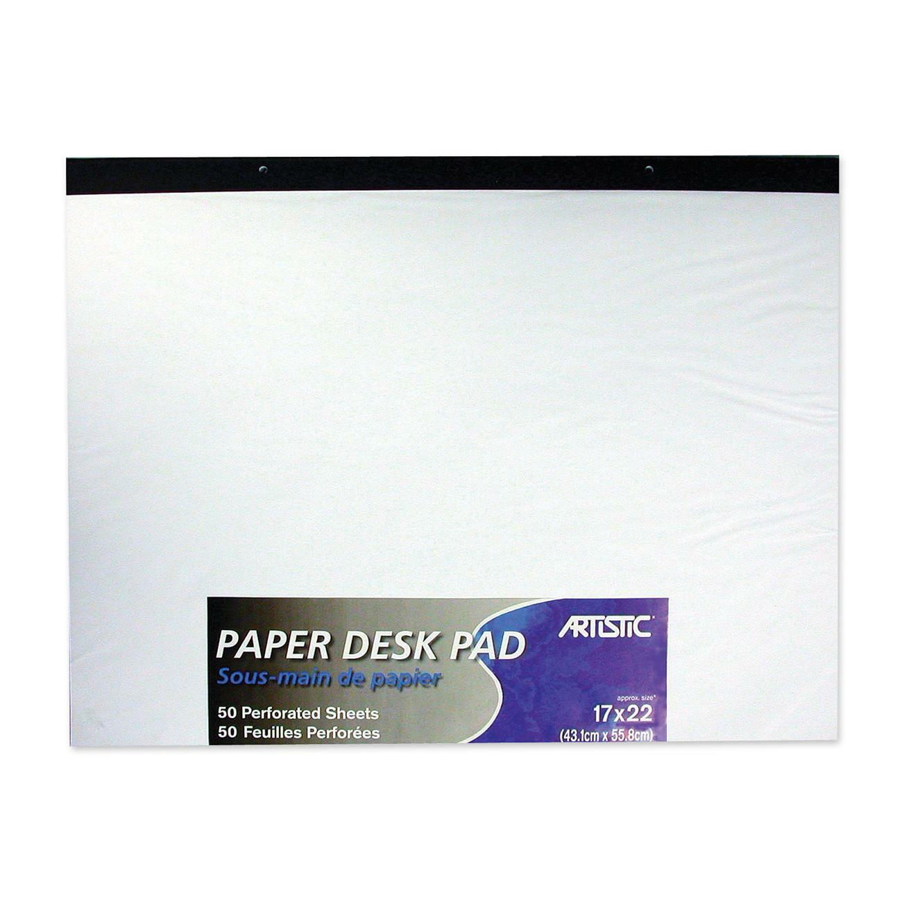 Paper Desk Pad Offers 50 Sheets Of Quality Plain White Perforated At The Top For Easy Tear Off Smooth An Ideal Writing Surface Notes