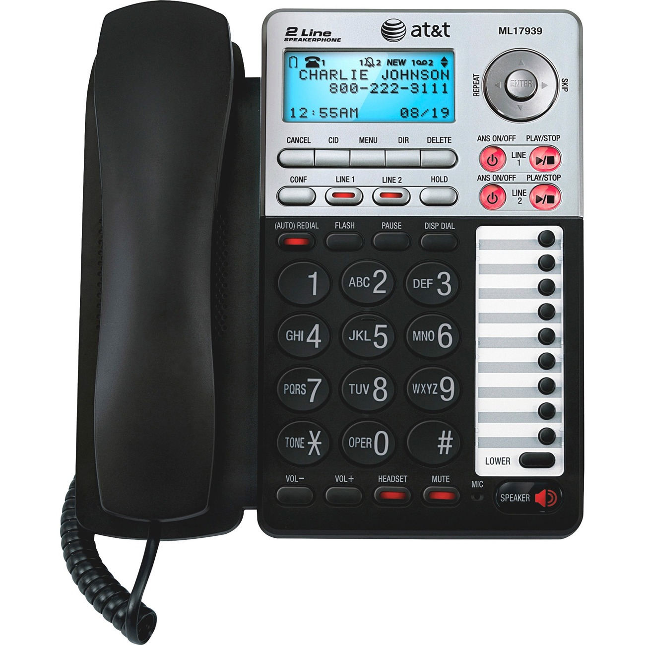 two line answering machine without phone
