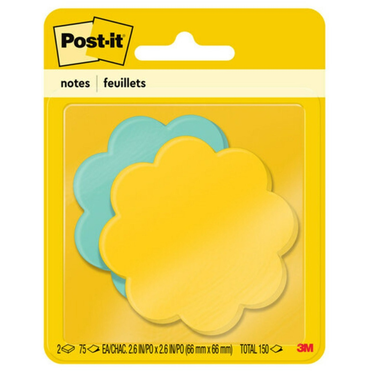 "75 // Pack Self-adhesive 3/"" X 3/"" Post-it Super Sticky Note Pad Assorted"