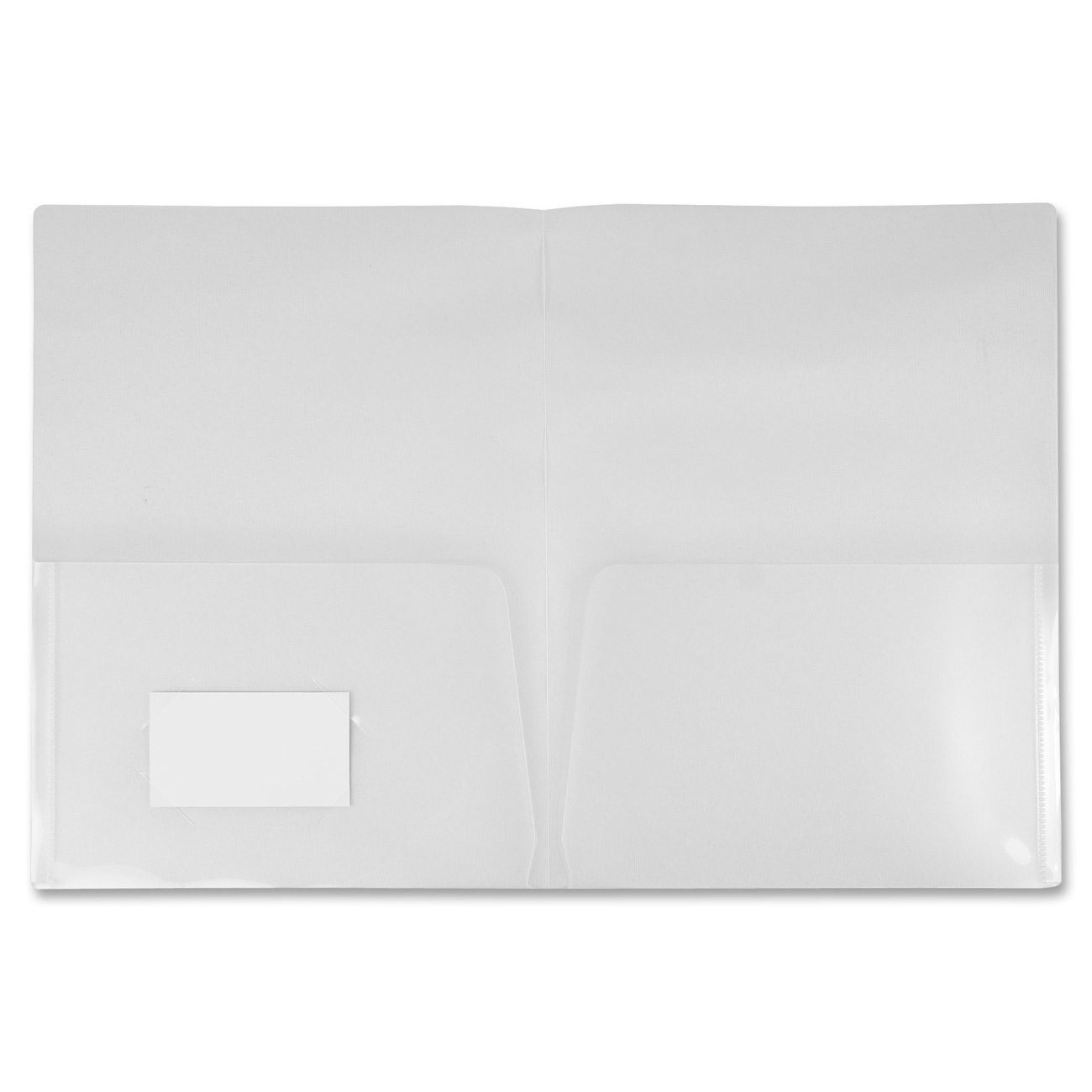 Winnable Two-Pocket Clear Poly Portfolio - Letter - 8 1/2
