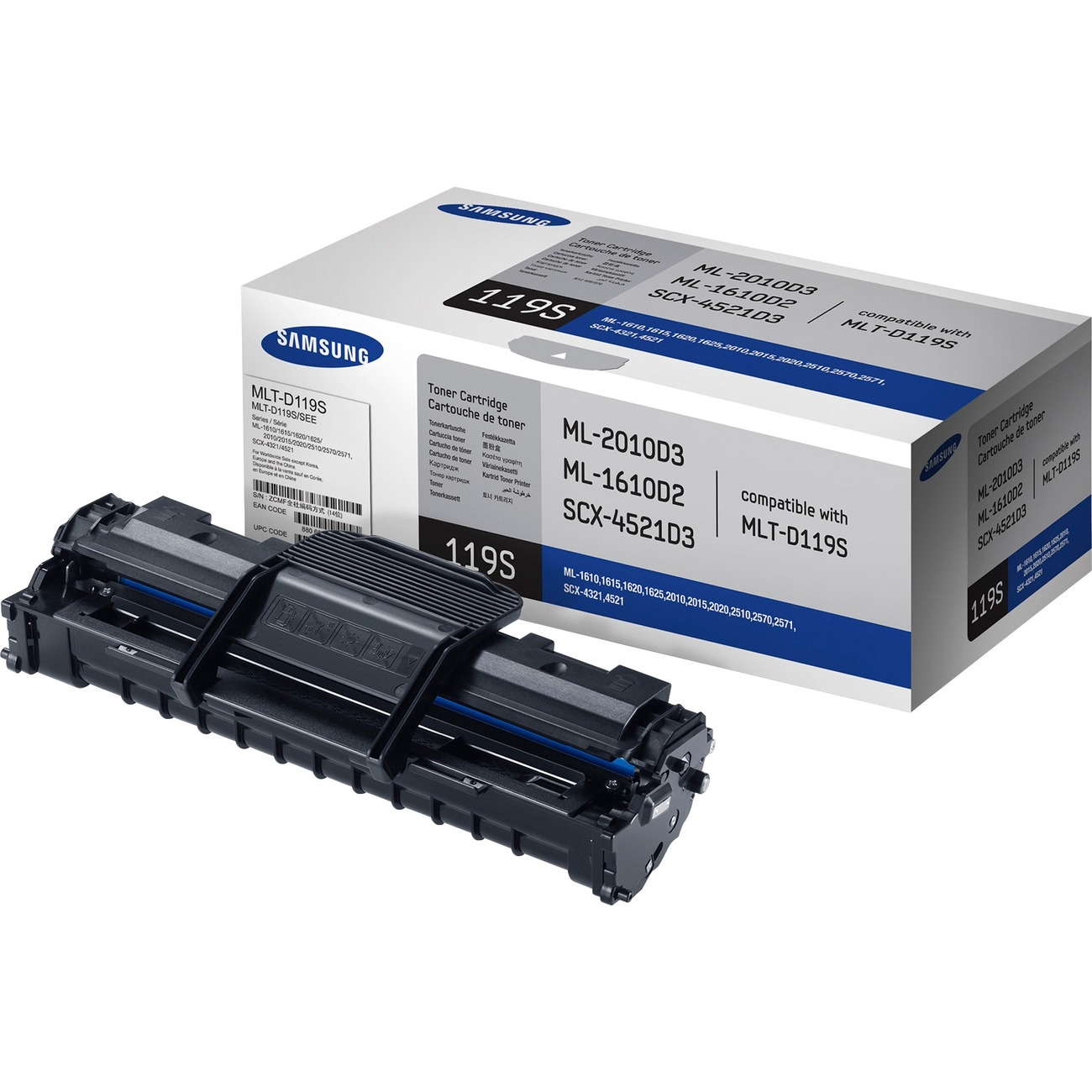 For ML-1610 Printers Supply Spot Compatible Samsung ML1610D2 Toners 3 Pack