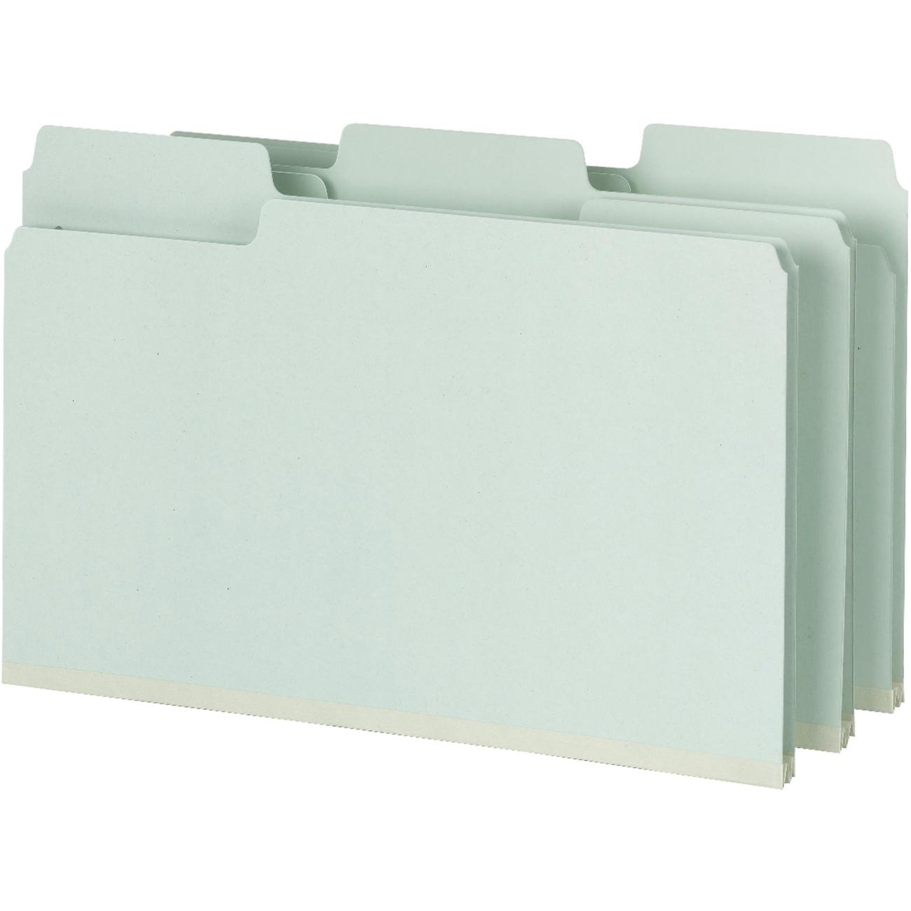 SMD19981 Smead SuperTab Pressboard Fastener Folders with SafeSHIELD Fasteners