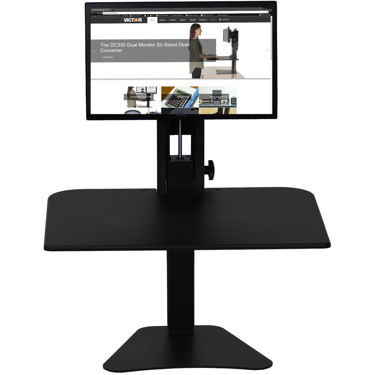 Victor High Rise Monitor Stand 15 5 Quot 393 7 Mm Height X
