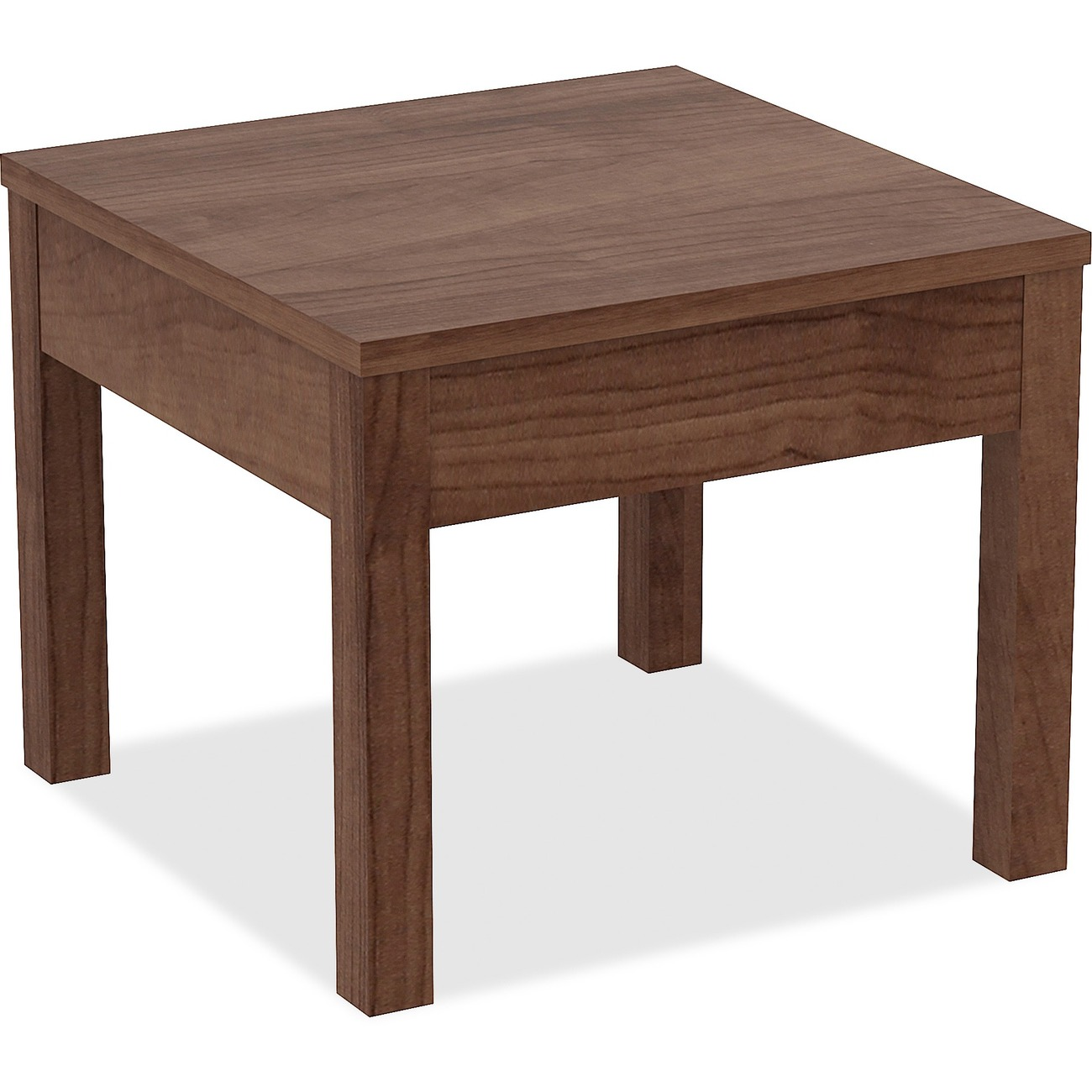 Parson Style Corner Table Is Perfect For Your Lobby Or Office Suite The 1 Thick Particleboard Top With Melamine Surface Supported By A Frame Support