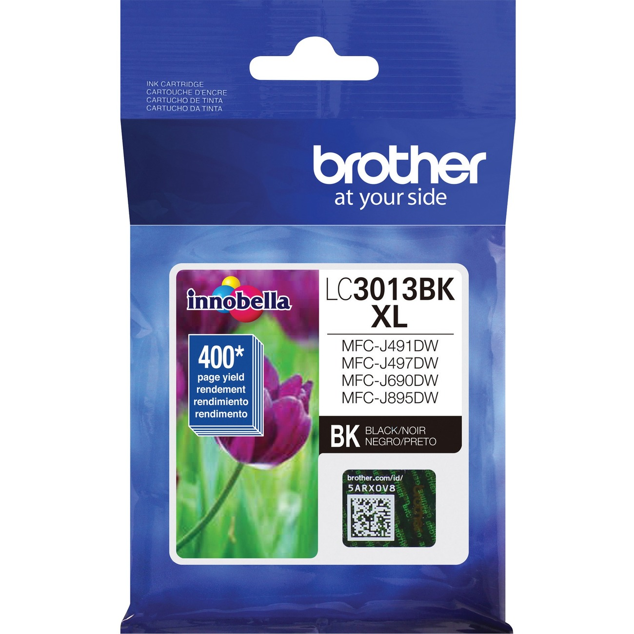 Brother LC3013BK Black Ink Cartridge High Yield 400 Yield