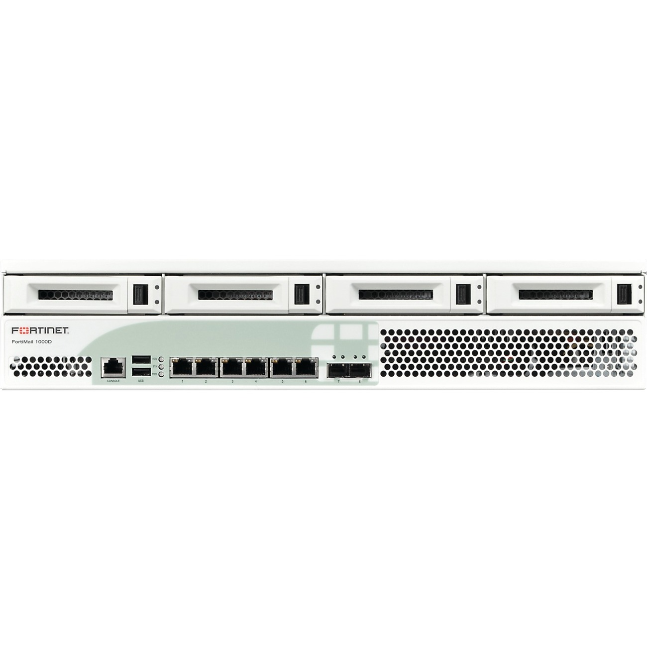 Fortinet FortiMail 1000D High Availability Firewall - 6 Port -  10/100/1000Base-T, 1000Base-X Gigabit Ethernet - 6 x RJ-45 - 2 - SFP - 2 x  SFP -