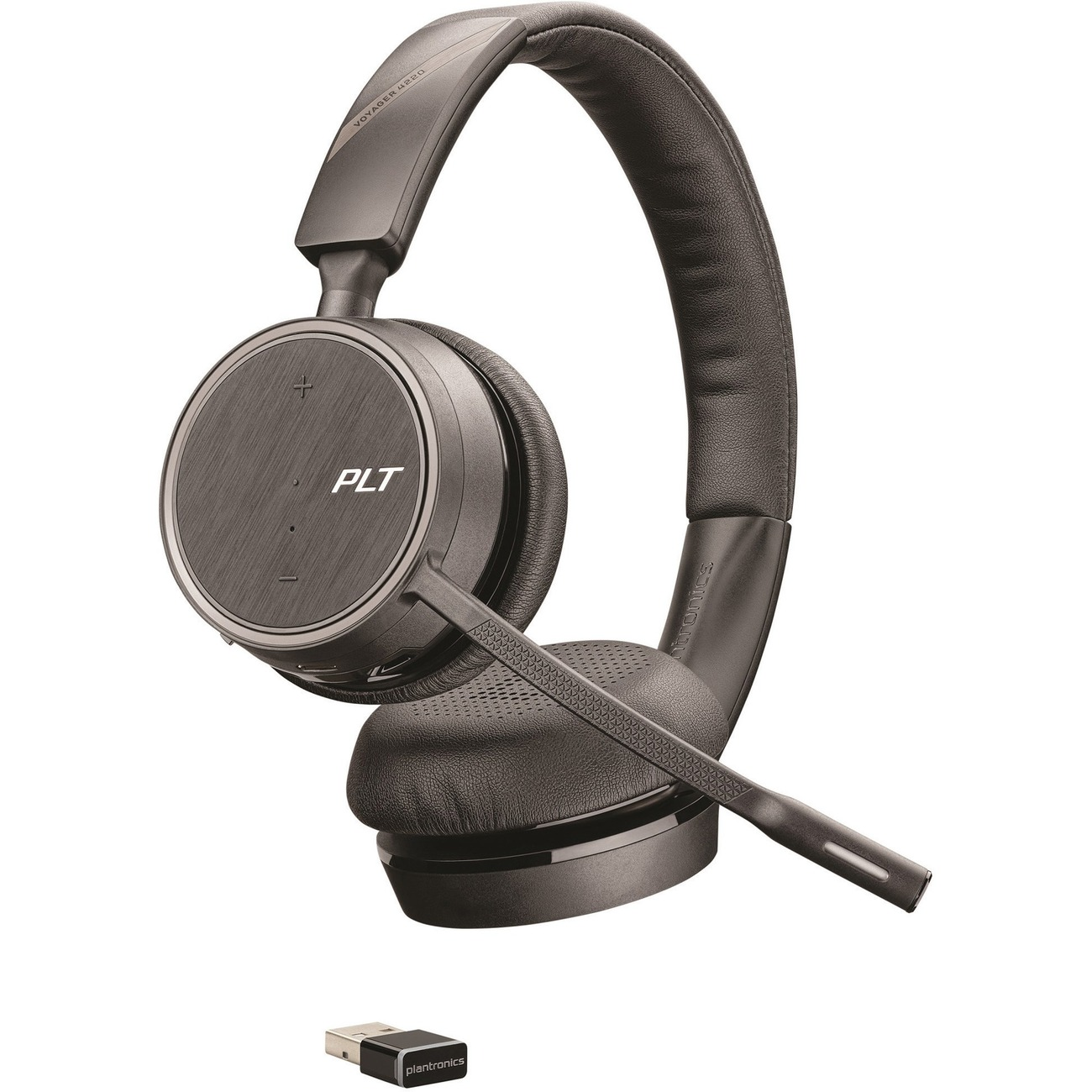 Plantronics Voyager 4200 UC Series Bluetooth Headset - Stereo - Wireless -  Bluetooth - 98 4 ft - 32 Ohm - 20 Hz - 20 kHz - Over-the-head - Binaural -