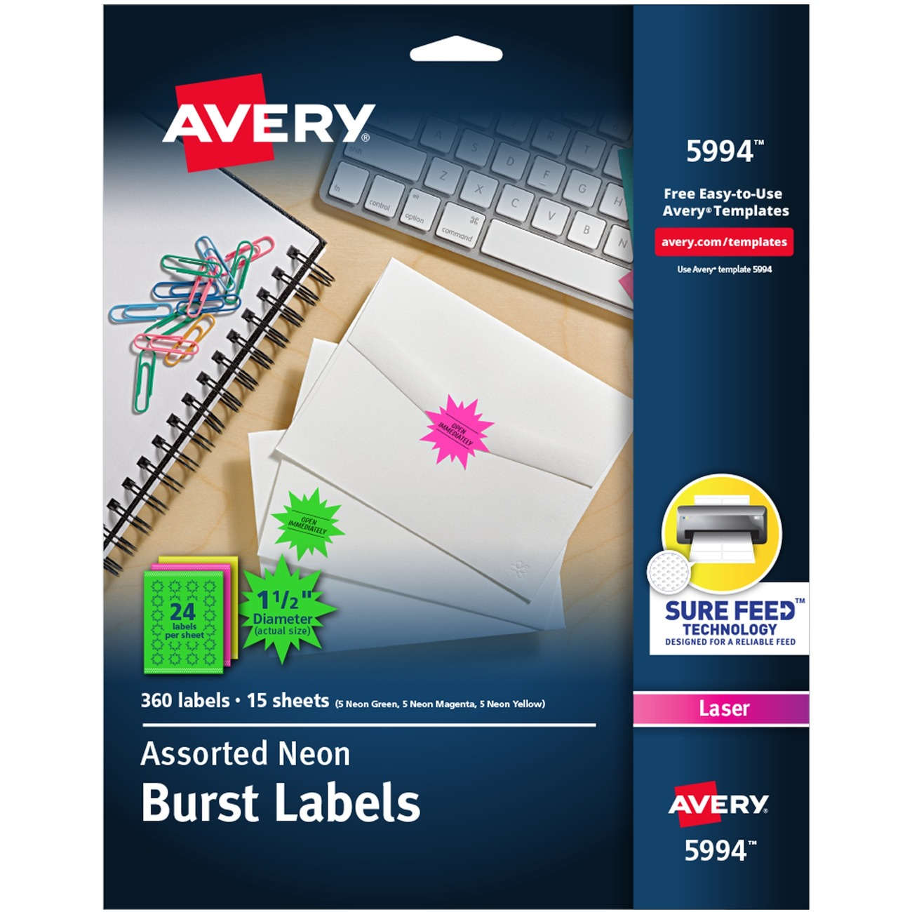 Free Avery Template For Microsoft Word Burst Label 5995 T