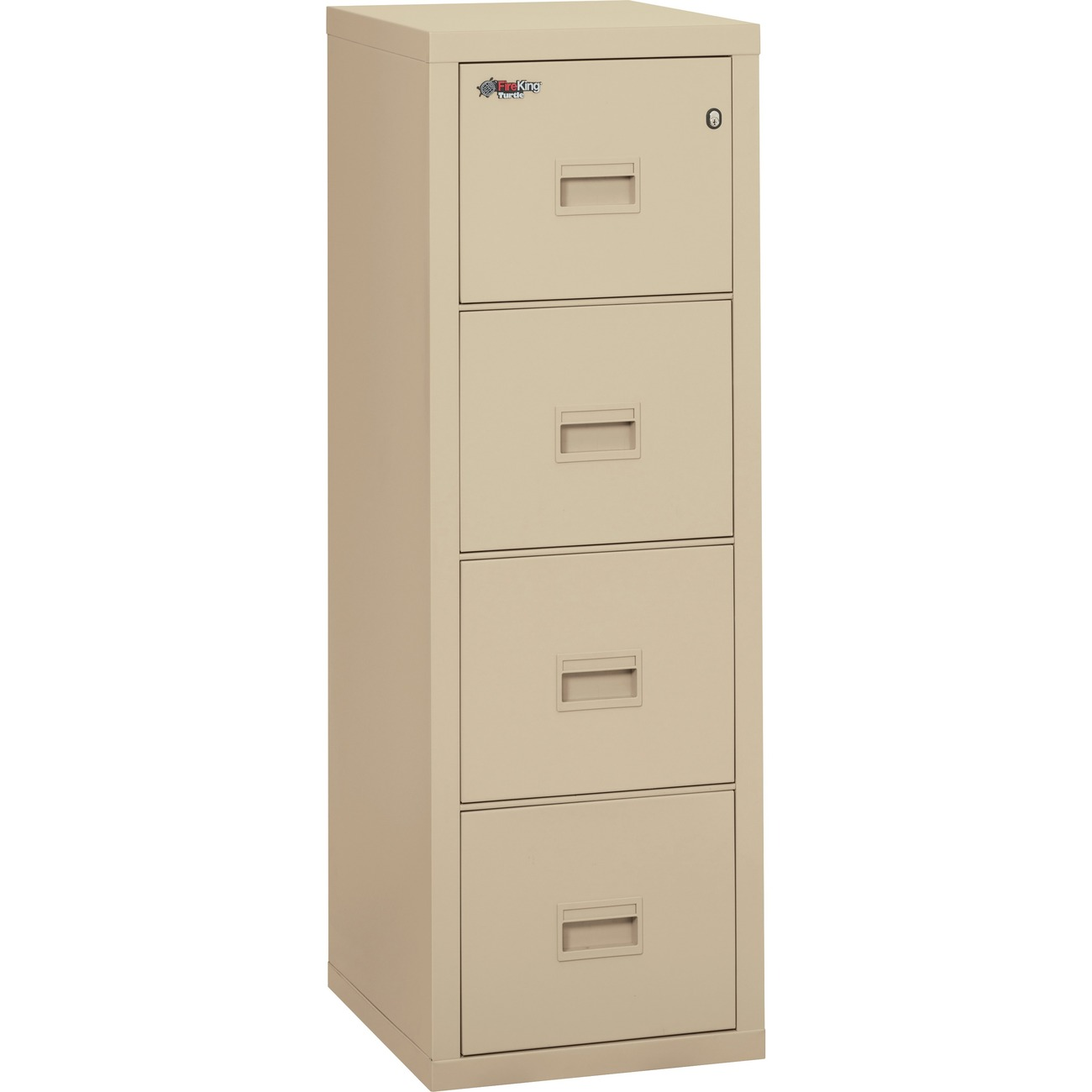 Fireking Insulated Turtle File Cabinet 17 7 X 22 1 52 8 4 Drawer S For Letter Legal Fire Resistant Parchment Powder Coated Steel