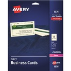 "Avery® Business Cards, Ivory, Two-Sided Printing, 2"" x 3-1/2"", 250 Cards (5376) - A8 - 2"" x 3 1/2"" - 250 / Pack - Ivory"