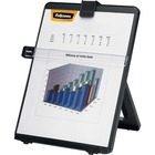"Fellowes Non-Magnetic Copyholder - 11.25"" (285.75 mm) Height x 10.13"" (257.30 mm) Width x 7.38"" (187.45 mm) Depth - Black - Plastic"