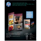 """HP Inkjet Brochure/Flyer Paper - Letter - 8 1/2"""" x 11"""" - 48 lb Basis Weight - Glossy - 100 / Pack - Glossy"""