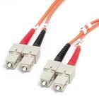StarTech.com 1m Fiber Optic Cable - Multimode Duplex 62.5/125 - LSZH - SC/SC - OM1 - SC to SC Fiber Patch Cable - SC Male - SC Male - 3.28ft - Orange