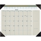 """At-A-Glance Executive Monthly Calendar Desk Pad - Yes - Monthly - 1 Year - January 2021 till December 2021 - 1 Month Single Page Layout - 22"""" x 17"""" Sheet Size - 2.31"""" (58.74 mm) x 2.56"""" (65.09 mm) Block - Desk Pad - Tan - Poly - Phone Directory - 1 Each"""