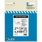 """Chartpak 1.5 mil Applique Drafting Film - 100 Sheets - Letter - 8.50"""" (215.90 mm) x 11"""" (279.40 mm) - Clear - Self-adhesive - For Printer - 100 / Box"""