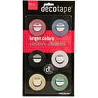 "Chartpak Decorative Tape - 27 ft (8.2 m) Length x 0.13"" (3.2 mm) Width - 6 / Pack - Assorted"