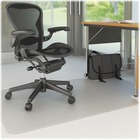 "Deflecto Nonstudded EconoMat Chairmat - Uncarpeted Floor - 60"" (1524 mm) Length x 46"" (1168.40 mm) Width - Lip Size 12"" (304.80 mm) Length x 25"" (635 mm) Width - Vinyl - Clear"