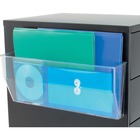 """Deflecto Magnetic DocuPocket - 1 Compartment(s) - 6.4"""" Height x 15"""" Width x 3"""" Depth - Clear - Plastic - 1Each"""