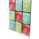 "Deflecto Stand-Tall Preassembled Wall System - 9 Pocket(s) - 27.4"" Height x 35.8"" Width x 2.9"" Depth - Wall Mountable - Clear - Plastic - 1Each"
