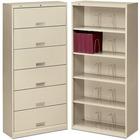 "HON Brigade Shelf File, 6-Shelves - 36"" x 13.8"" x 75.9"" - 6 x Shelf(ves) - Letter - Putty - Steel - Recycled"