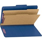 "Smead Classification Folders with SafeSHIELD Fasteners - Legal - 8 1/2"" x 14"" Sheet Size - 2"" Expansion - 2 x 2S Fastener(s) - 2"" Fastener Capacity for Folder - 2/5 Tab Cut - Right of Center Tab Location - 2 Divider(s) - 23 pt. Folder Thickness - Pressboa"