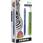 Zebra Pen Z-Grip Retractable Ballpoint Pens - Medium Point Type - 1 mm Point Size - Blue - Clear, Blue Barrel - 12 / Box