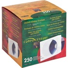 "Compucessory CD/DVD White Window Envelopes - CD/DVD - 5"" Width x 5"" Length - 250 / Box - White"