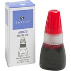 Sparco Stamp Refill Inks - 1 / Each - Red Ink - 10 mL - Red