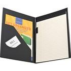 "Sparco Vinyl Economy Pad Holder - Letter - 8 1/2"" x 11"" Sheet Size - Vinyl - Black - 1 / Each"