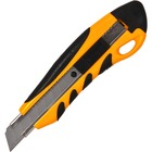 Sparco PVC Anti-Slip Rubber Grip Utility Knife - Stainless Steel Blade - Heavy Duty - Yellow - 1 Each