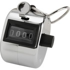 Sparco Finger Ring Tally Counter - 4 Digit - Finger Ring - Handheld - Chrome Plated Steel - Silver