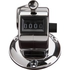 Sparco Tally Counters - 4 Digit - Finger Ring - Desktop - Chrome Plated Steel - Silver