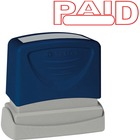 """Sparco PAID Red Title Stamp - Message Stamp - """"PAID"""" - 1.75"""" (44.45 mm) Impression Width x 0.62"""" (15.75 mm) Impression Length - Red - 1 / Each"""